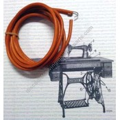 Treadle Leather Belt with Metal Hook #804-M/W