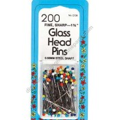 Mutli Colored Glass Head Pins (Bin 6)