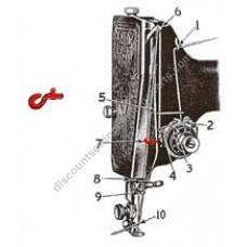 Singer Thread Guide (#7) #2827 with Rivet