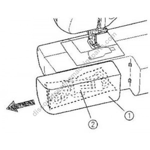 Brother Extension Table #XC8918021, BC1000, sewing machine parts
