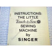 """Instruction Manual for Singer """"Little Touch and Sew"""""""